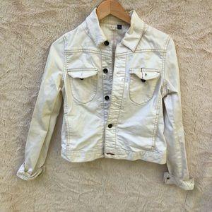 Club Monaco denim jacket. White. S